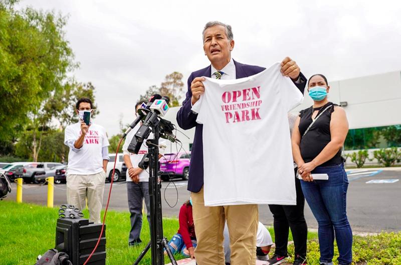 Exigen que la Patrulla Fronteriza reabra Parque de la Amistad en California