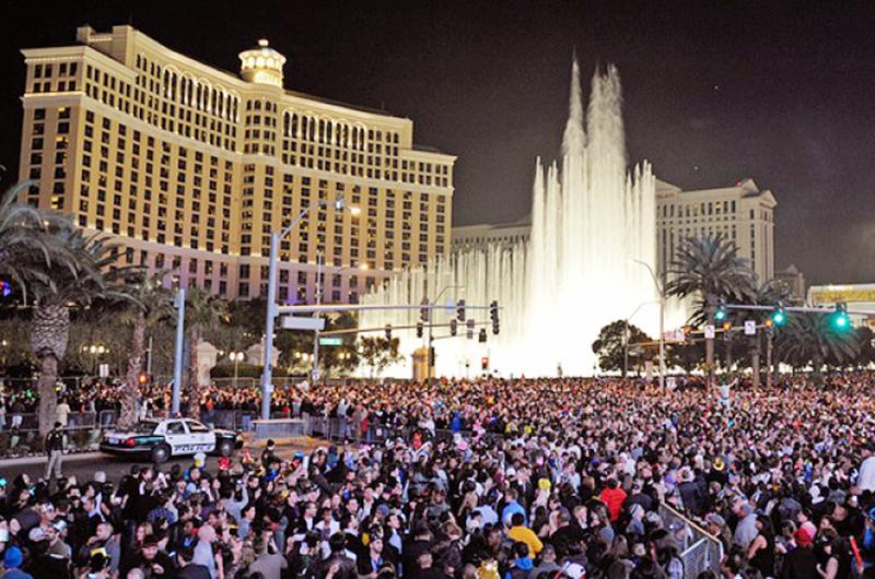 Record de visitantes en Las Vegas para despedir el año y esperar el 2019