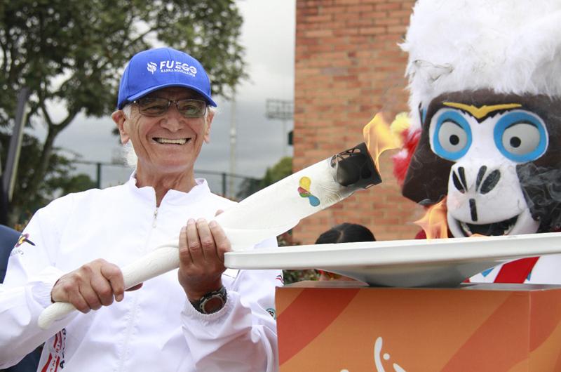 Recibió Bogotá la antorcha de los Juegos Centroamericanos Barranquilla 2018