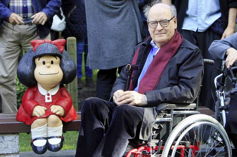 A los 88 años de edad fallece Quino, el creador de Mafalda