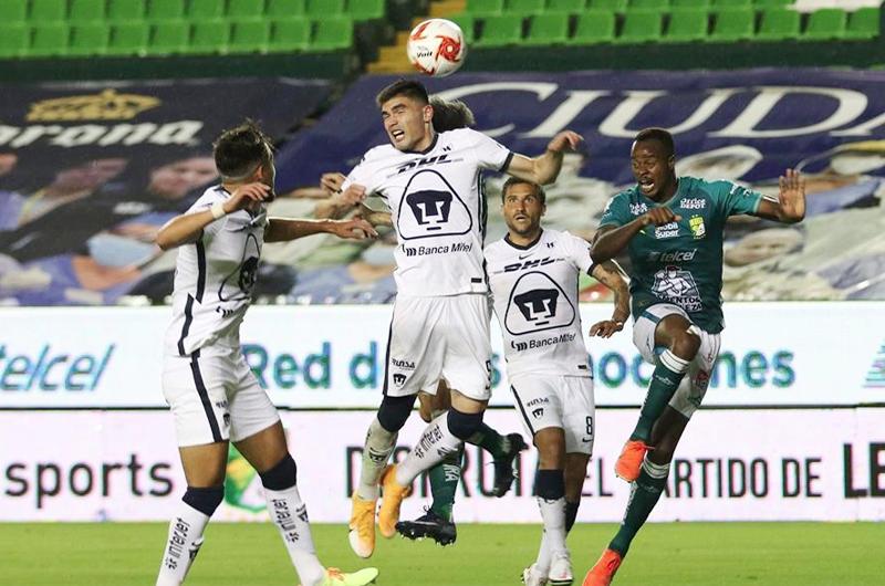 El ecuatoriano Mena y el chileno Meneses le dan el triunfo al León sobre los Pumas
