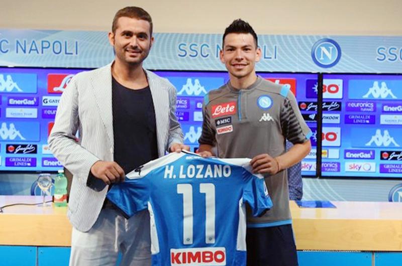 """Napoli presenta a mexicano """"Chucky"""" Lozano; portará el dorsal 11"""