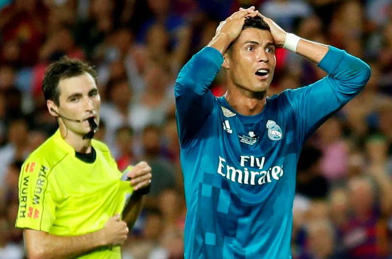 Cristiano Ronaldo es sancionado un partido de Champions League