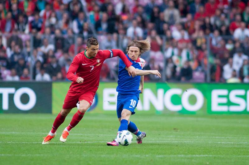 Selecciones de Croacia y Portugal se miden en partido amistoso
