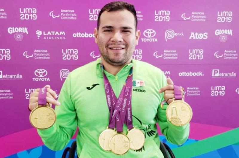 Diego López con otro oro en Lóndres 2019, conquistó cuatro títulos