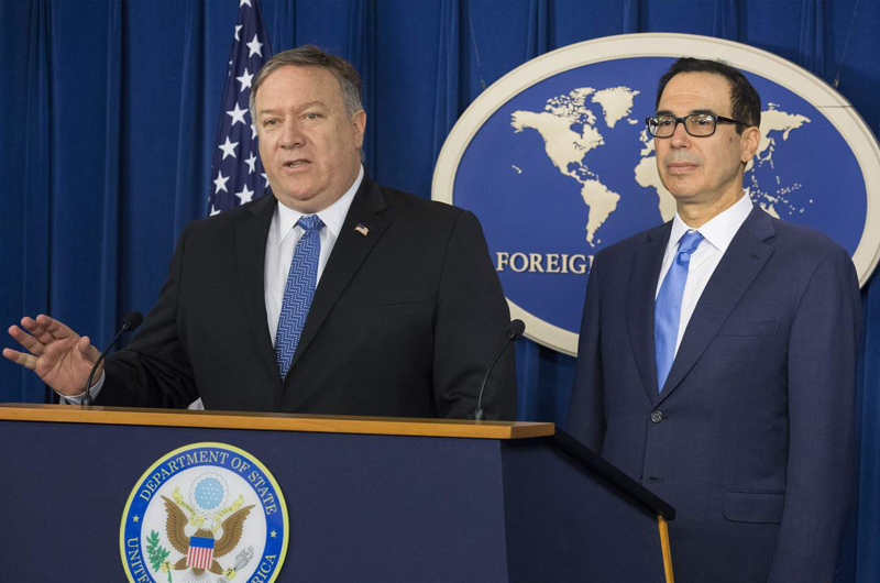 EUA advierte de consecuencias a países que ignoren sanciones contra Irán