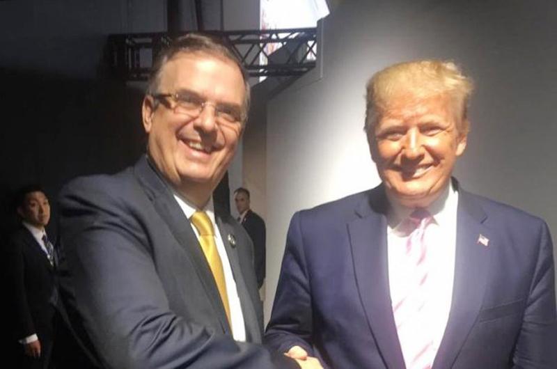 """Trump reconoce """"buenos indicadores""""  en tema migratorio: Marcelo Ebrard"""
