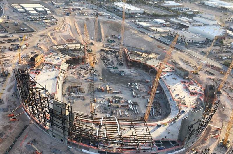 Toma forma la nueva casa de los Raiders en Las Vegas