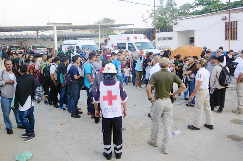 Liberan a 74 indocumentados retenidos en domicilio de Nuevo León