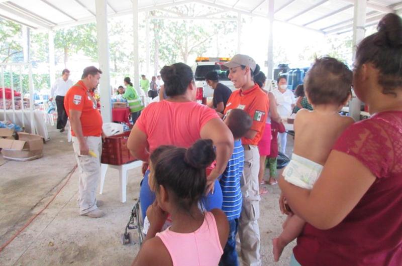 Instalan nuevo albergue para migrantes en Tapachula, Chiapas