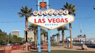 Continúan los trabajos en el letrero de bienvenida a Las Vegas