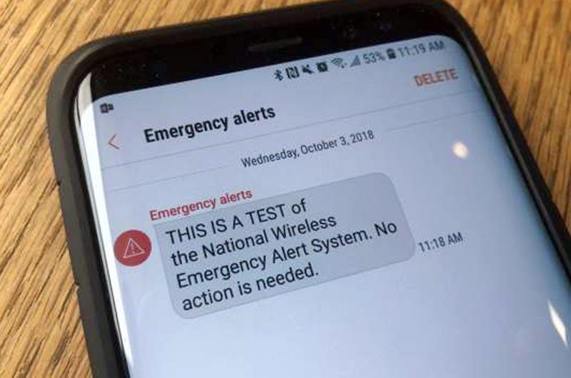 Celulares recibieron mensaje de alerta