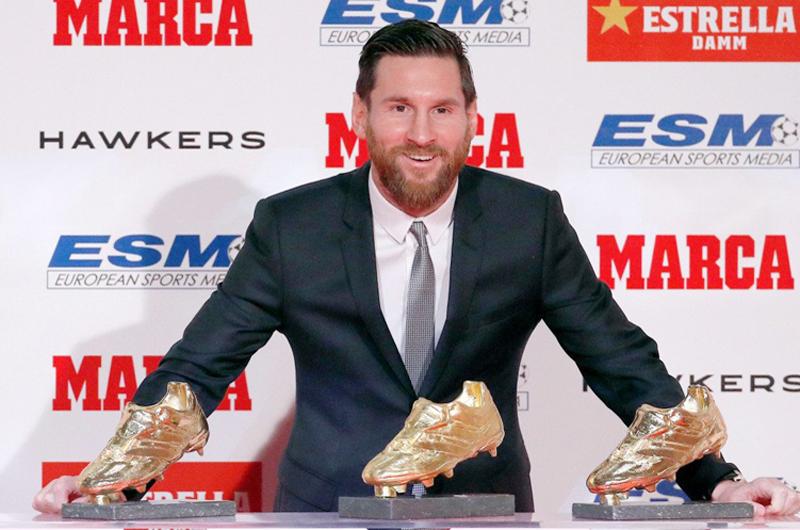 Lionel Messi es el máximo ganador de la Bota de Oro