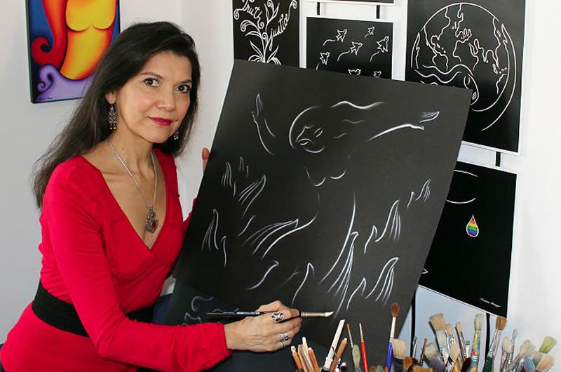 Ilustra artista mexicana jardines comunitarios de Nueva York