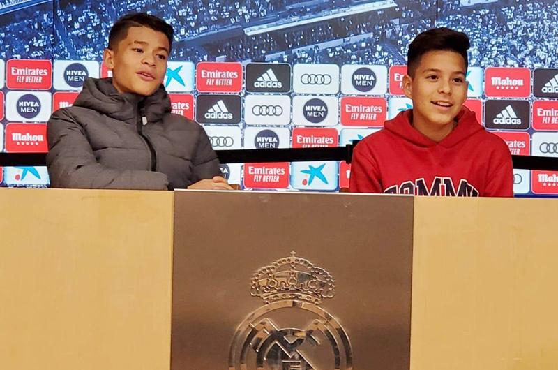 Niños Giovanni Barajas y Erik Nava... De LV a la casa del Real Madrid
