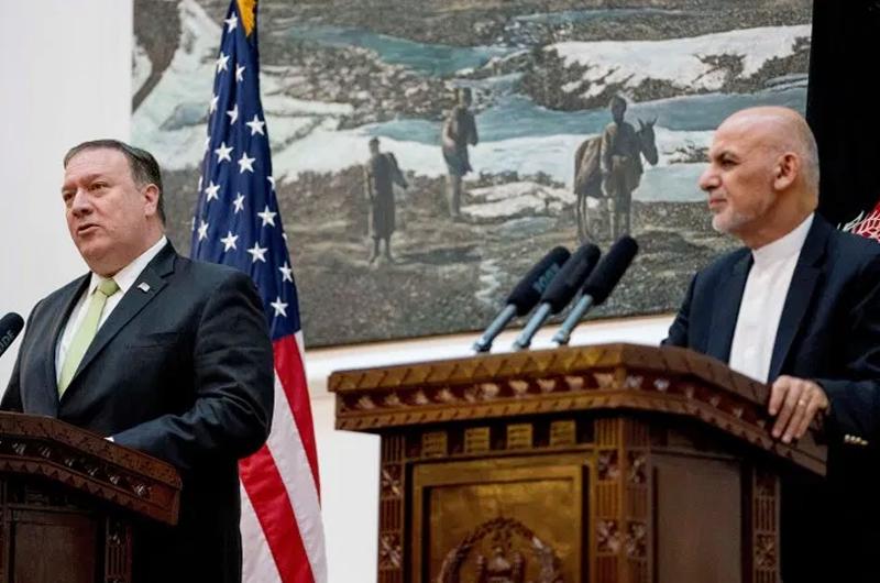 Estados Unidos recorta ayuda a Afganistán tras visita de Mike Pompeo