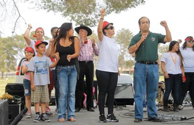 Jóvenes del CSN y otras escuelas celebraron a César Chávez en NLV