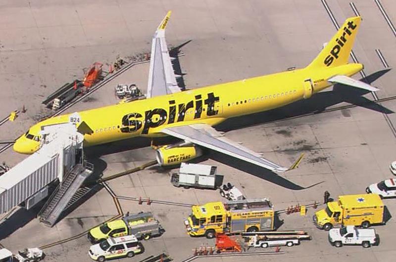 Avión de Spirit tuvo que regresar al  Mc Carran por humo en la cabina