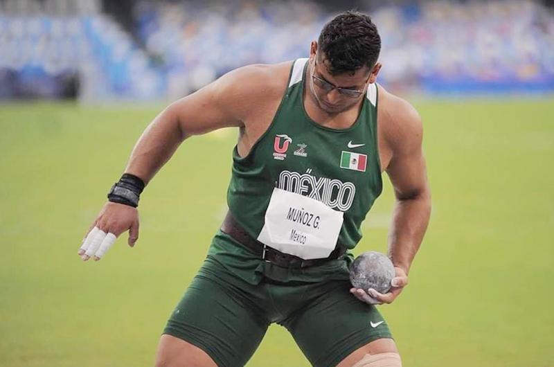Mexicano Uziel Muñoz gana bronce en lanzamiento de bala