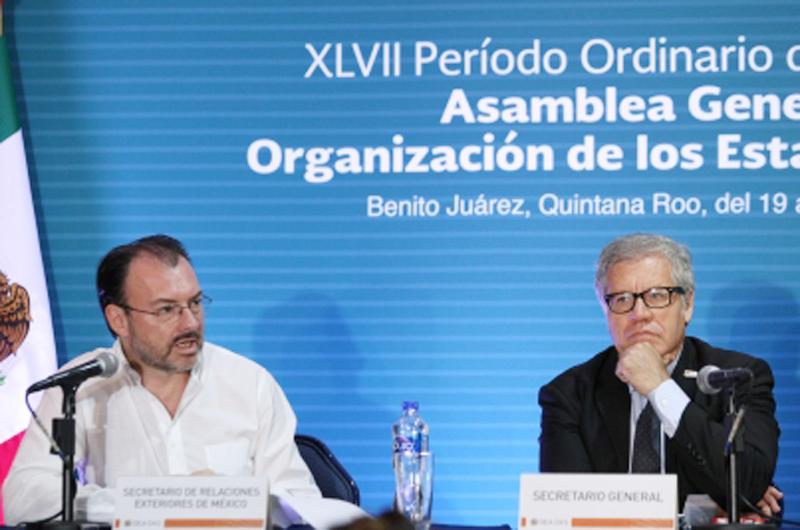 Migración, tema principal de México en asamblea de Estados Americanos