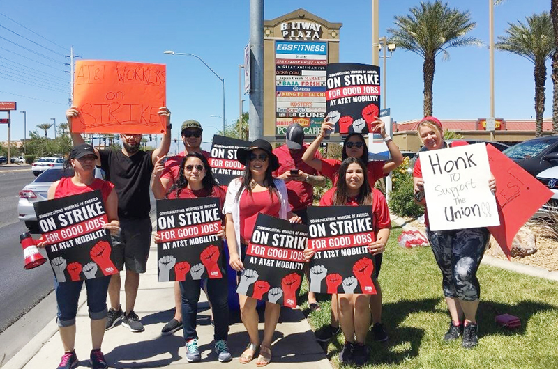 Protestaron empleados de AT&T a instancia nacional; LV no fue la excepción